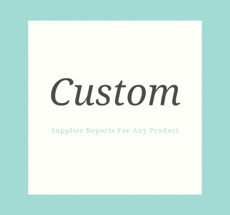 custom Supplier reports for any product