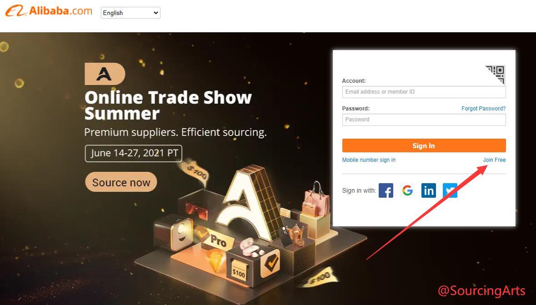 alibaba account register