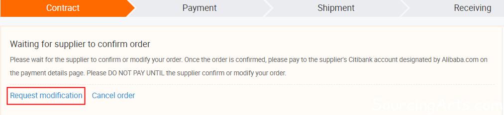 modify Trade Assurance order